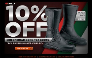10% OFF Sidi On Road Gore-Tex Boots Sale at Revzilla