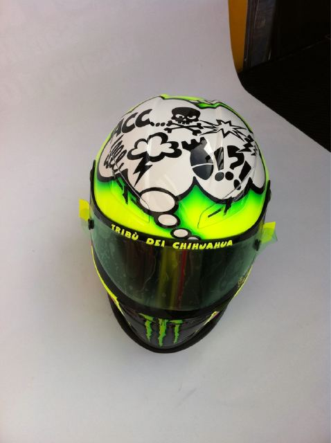 Valentino Rossi's new custom helmet for Misano