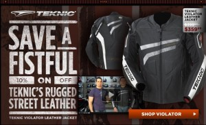 Extra 10% OFF on the Teknic Rugged Street Leather Jacket