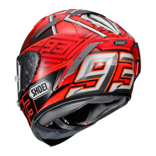 marc marquez shoei x spirit iii replica helmet replica race helmets. Black Bedroom Furniture Sets. Home Design Ideas