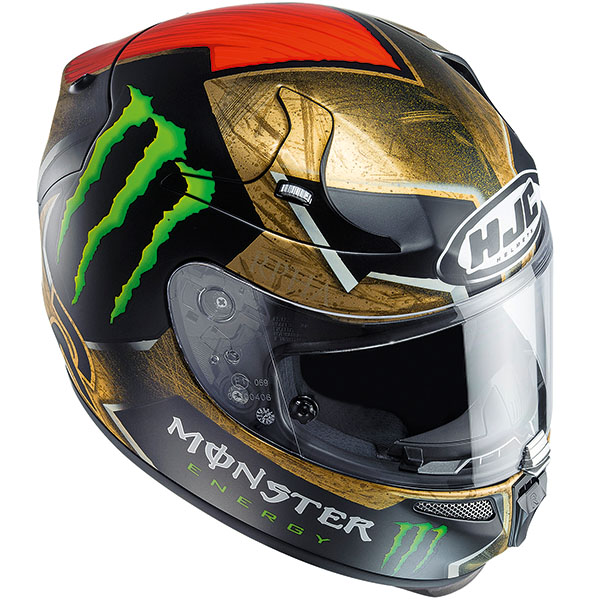 jorge lorenzo hjc r pha 10 plus sparteon helmet replica. Black Bedroom Furniture Sets. Home Design Ideas