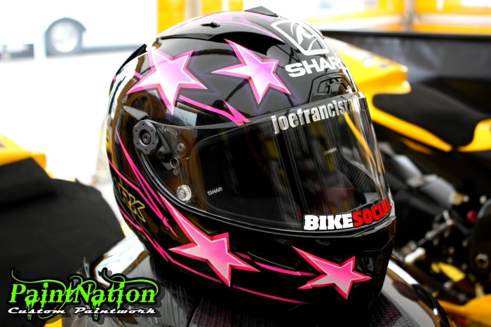 Joe Francis 2014 Shark helmet by Paint Nation