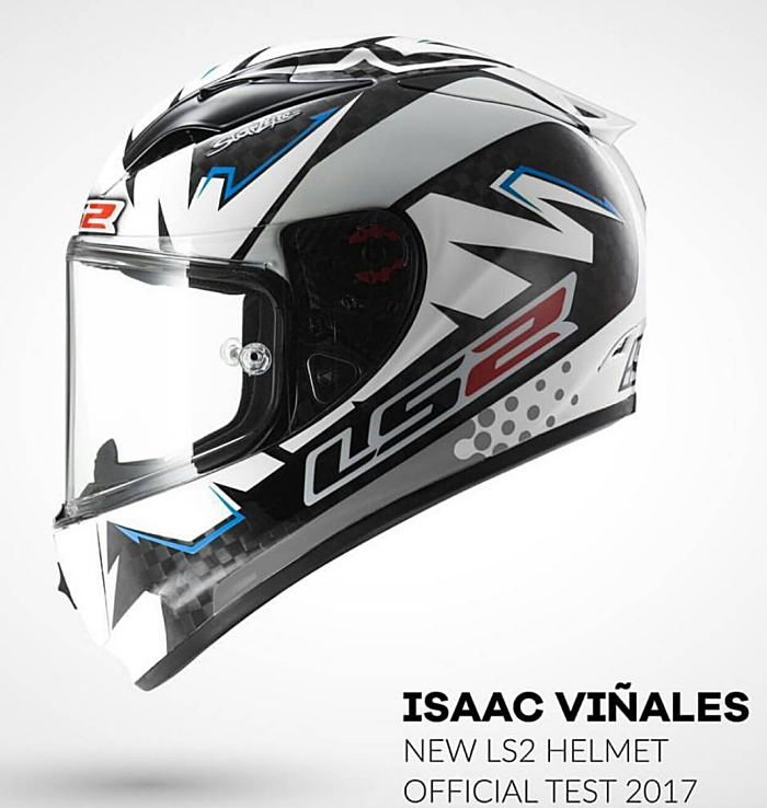 Isaac Vinales 2017 LS2 Arrow Moto2 Test Helmet