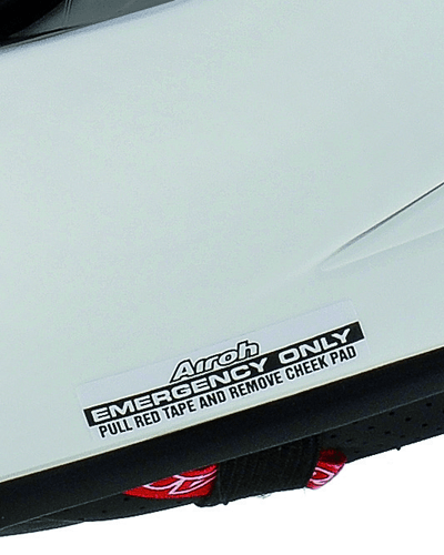 Airoh Emergency Cheeck Pad Removal System