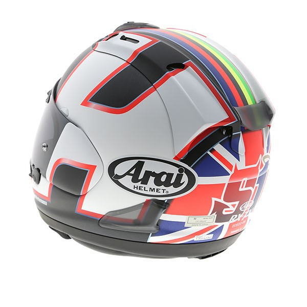 leon haslam arai rx 7v helmet replica race helmets. Black Bedroom Furniture Sets. Home Design Ideas