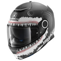 Jorge Lorenzo 'Great White' Shark Spartan Helmet (Black)